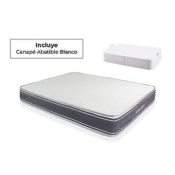 Naturconfort Pack Descanso, Viscoelástica Soja, Blanco, 80x190cm: Amazon.es: Hogar