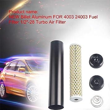 """Enjoyall Aluminum 1/2""""-28 Fuel Filter Turbo Air Filter,4003 24003"""