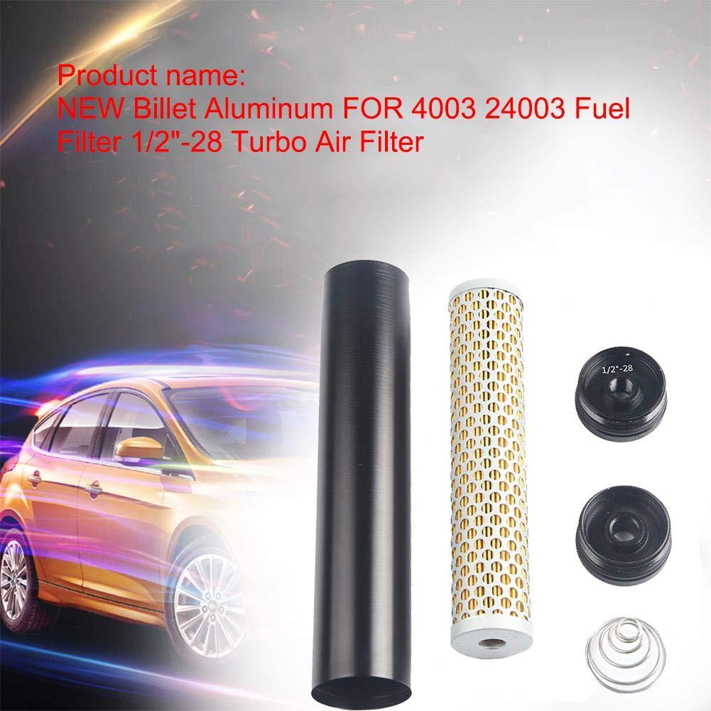 Enjoyall Aluminum 1/2''-28 Fuel Filter Turbo Air Filter,4003 24003