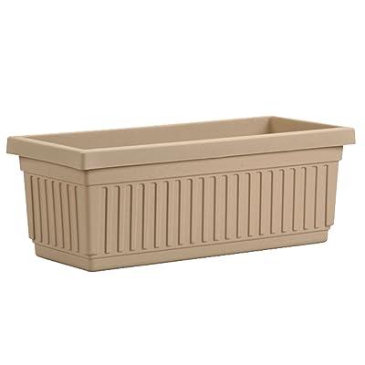 Akro-Mils VNP18000A34 Venetian Flower Box, Sandstone, 18-Inch : Planters : Garden & Outdoor