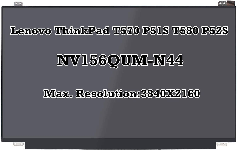 "15.6"" NV156QUM-N44 LCD LED Screen 3840X2160 UHD Panel IPS Display for Lenovo Thinkpad T570 P51S T580 P52S SD10L85341 FRU: 00UR894"
