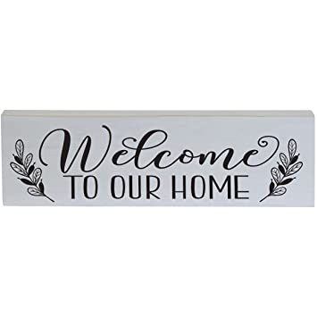 amazon com welcome to our home inspirational pine block