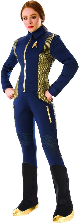 Rubie's Costume Co Women's Star Trek Discovery Command Costume Uniform, Gold, Standard