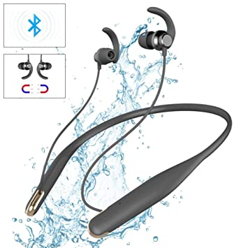 Libeauty Auriculares inalámbricos Bluetooth Auriculares Deportivos Auriculares Colgantes para Correr Running Fitness Ciclismo Impermeable en la Oreja ...