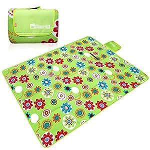 LXLA- Espesar alfombrilla de picnic a prueba de humedad acampar plegable salvaje Alfombra de tela almohadilla manta portátil flocado algodón 200 * 200 cm Número aplicable: 4-6 personas ( Color : Style 2 )