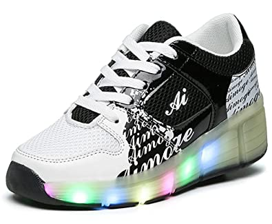 6169ffd54a74d Amazon.com: FG21ds21g LED Light Up Roller Shoes Teenagers Wheel ...
