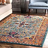 nuLOOM RZBD86B Oasis Collection Area Rug, 8′ x 10′, Green Review