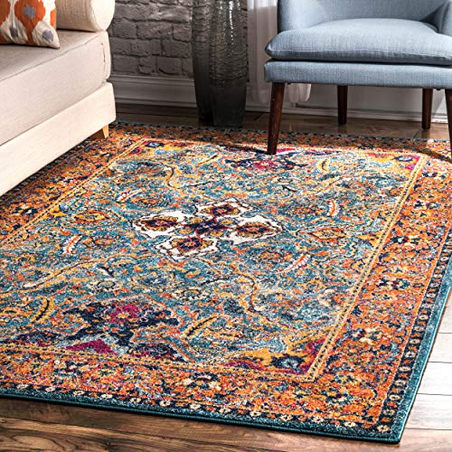 nuLOOM RZBD86B Oasis Collection Area Rug 8' x 10' Green