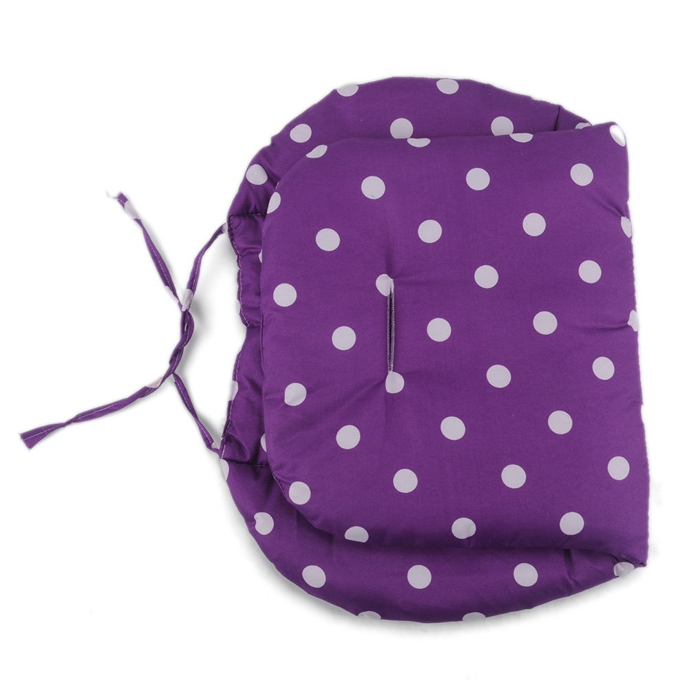 Purple Polka Dot Printed Baby Infant Pushchair Seat Liner Stroller Cushion Pad Pram Soft Thick Cotton Mat Cover