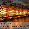 LED Flame Light Bulb - Flicker Flame Light Bulb Simulated Burning Fire Effect Lights with Flickering Emulation Atmosphere Decorative Light Bulb for Bar Festival Party Birthday Christmas Decoration