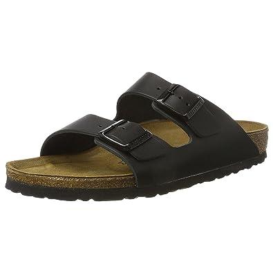 8a3f88d80999 Birkenstock Mens Arizona Black Synthetic Sandals 42 EU