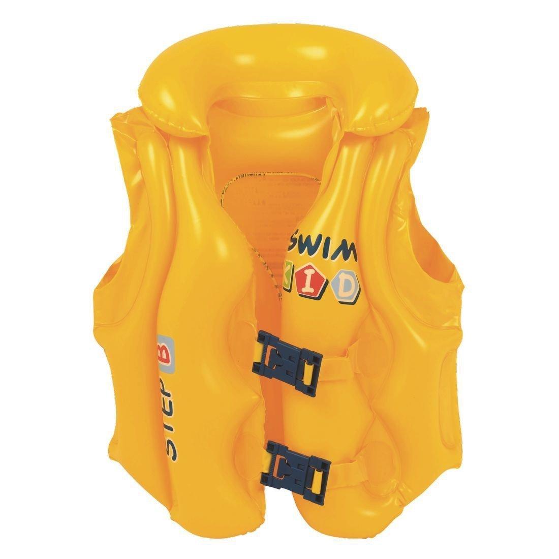 Unisex para niños de natación inflable para niños chaleco Natación chaqueta de seguridad Paso B Amarillo Jilong: Amazon.es: Hogar