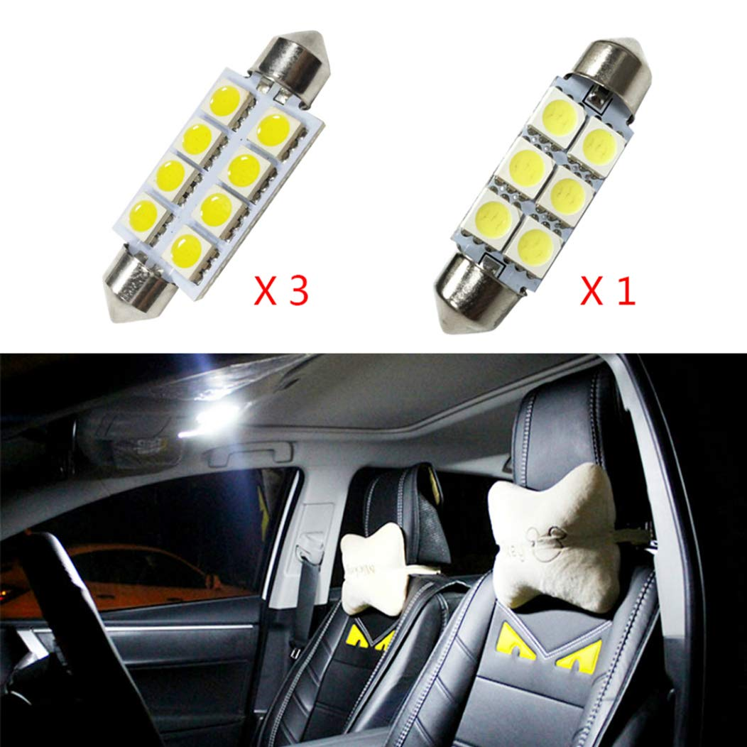 for Jeep Wrangler 2007-2018Extremely Bright Super Bright LED Chipset Bulbs for Car Interior Lights Dome Light Replacement Bulbs White 6pcs