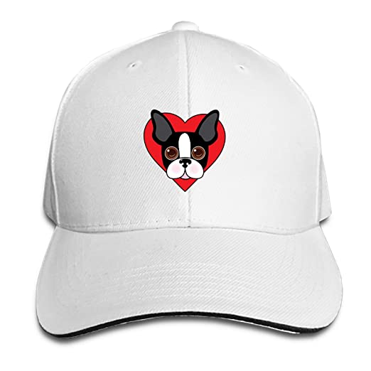 936db6c0f54 PHOSUP Unisex Boston Terrier Face Unstructured Cotton Adjustable Hat ...