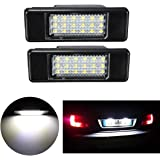 MuChangZi 2Pcs 12V Super Bright Lamp 6000K License Plate Light For P//eugeot 106 1007 207 307 308 3008 406 407 508 806 For C//itroen C2 C3 C4 C5 C6 DS3