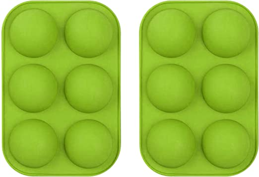 Jelly 2 Packs 2PC 6 Holes Semi Sphere Silicone Baking Mold Cake Dome Mousse Half Sphere Silicone Baking Molds for Making Chocolate