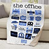 """NBC The Office Mash-Up Sherpa Blanket - 50"""" X 60""""-White"""