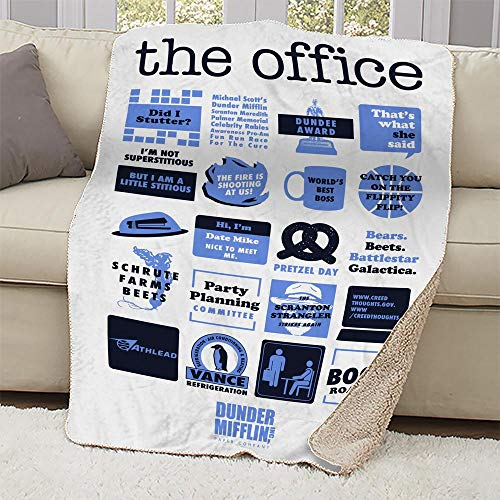 NBC The Office Mash-Up Sherpa Blanket
