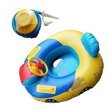 VORCOOL Piscina Flotante Inflable Volante Anillo de Flotador de los Niños Anillo de Natación y Inflador 2 Piezas: Amazon.es: Juguetes y juegos