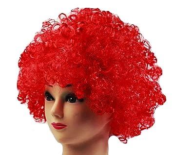 HAAC Peluca Afro Afro Peluca Color Rojo para Carnaval,, Party