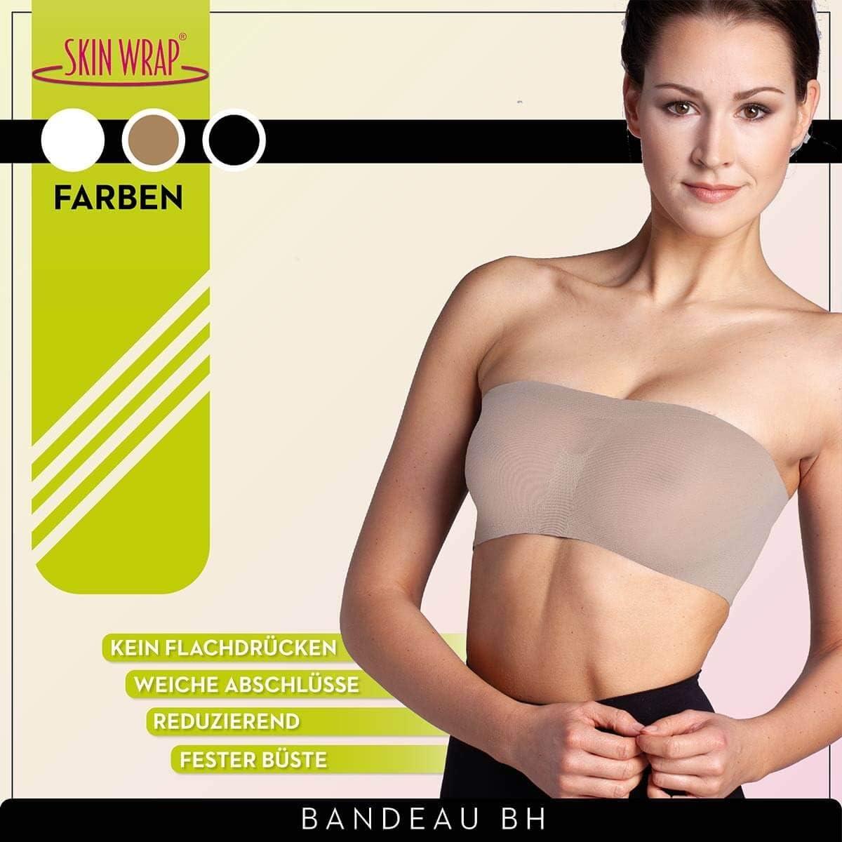 Damen Bandeau Bra BH Bustier Trägerlos Top Sport Underwear Soft BHs /& BH-Sets P//