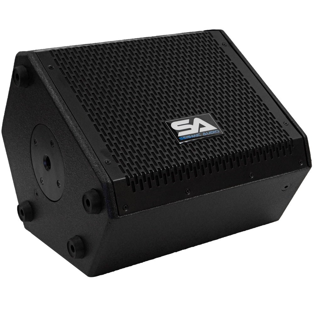Seismic Audio - SAX-8M - Compact 8 Inch 2-Way Coaxial Floor / Stage Monitor with Titanium Horn - 150 Watts RMS - PA/DJ Stage, Studio, Live Sound 8 Inch Monitor