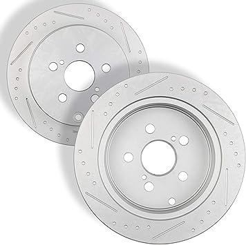 Cor Rear  Drill Slot Brake Rotors+Ceramic Pads Matrix Fit Pontiac Toyota Vibe