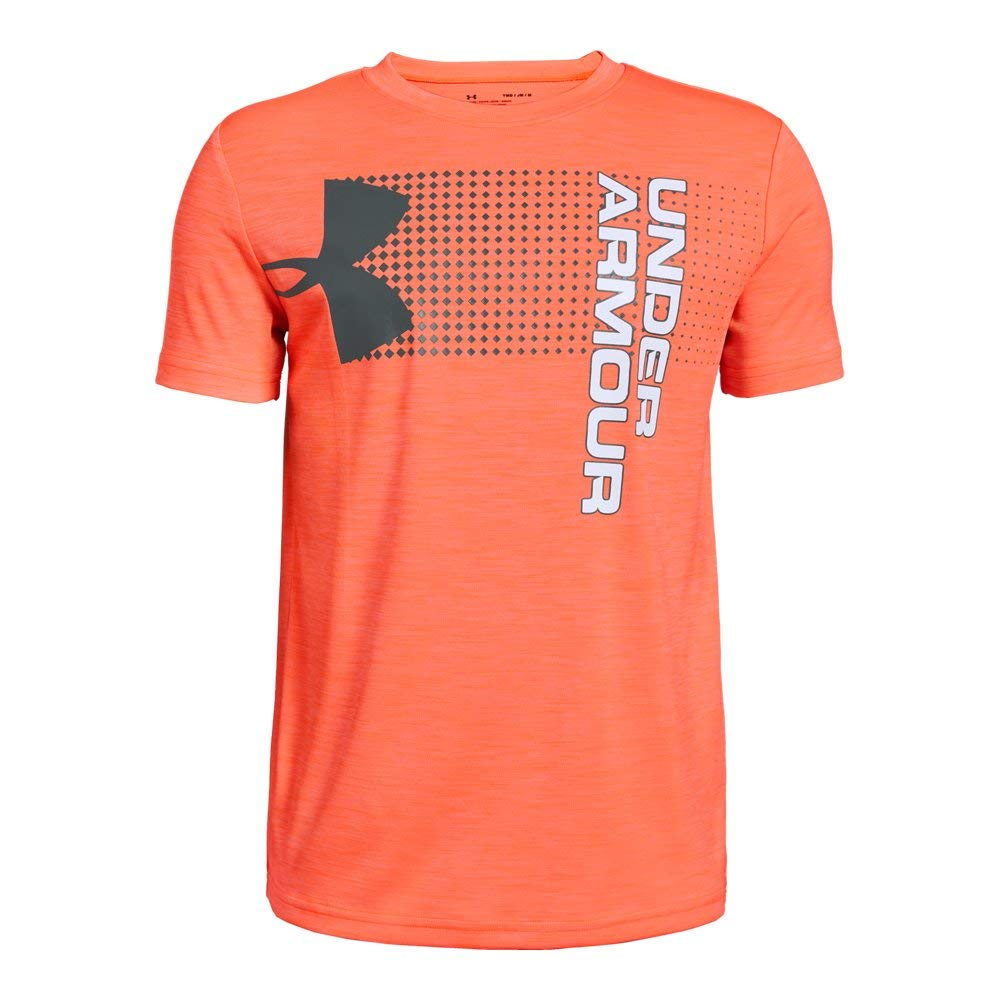 Under Armour Boys' Crossfade T-Shirt, Orange Glitch (882)/Pitch Gray, Youth Large