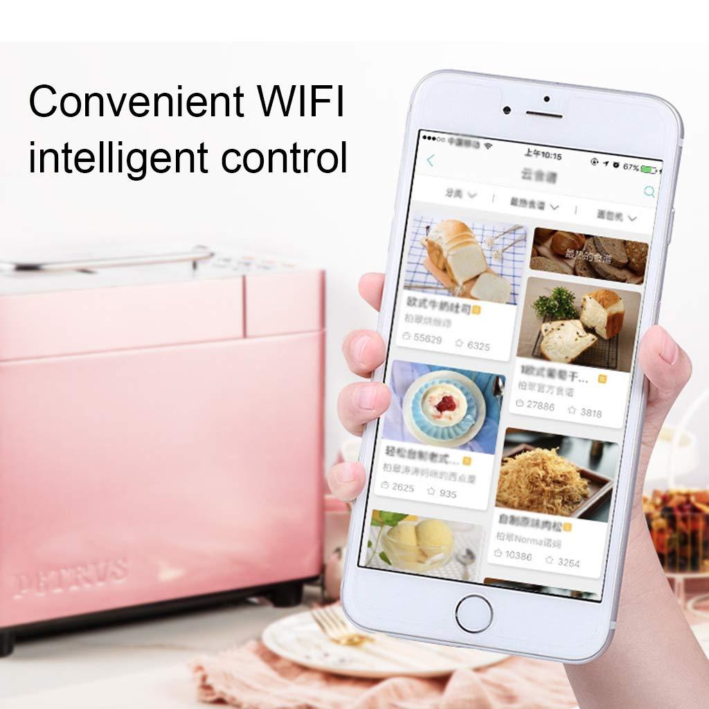 XN Kitchen Máquina para Hacer Pan WiFi programable Dispensador de nueces de Trigo Integral 2LB 2 Tamaños de Pan 3 Colores de Corteza Temporizador de demora ...