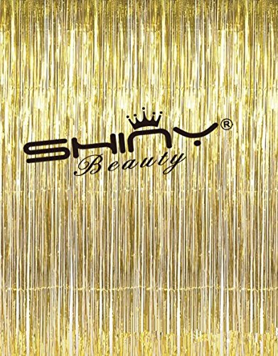 Foil Fringe Curtain Gold 3FTX8FT Wedding Glitter Background Decorations