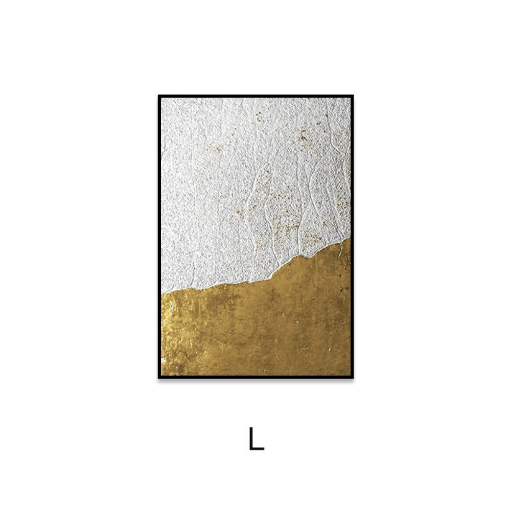 PLLP Modern minimalist Nordic style paintings, abstract gold foil circle living room decoration painting, hotel model room soft bedside painting,H,4060 by PLLP