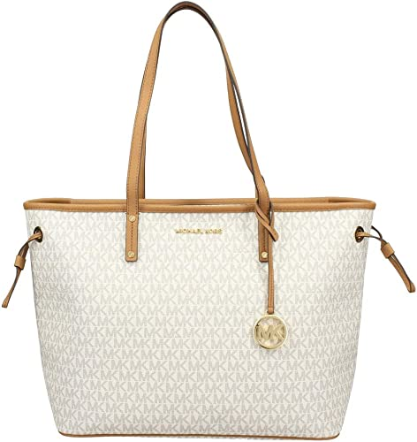 Michael Kors Jet Set Travel Large Tote MK Signature Vanilla