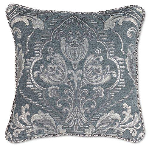Croscill Gabrijel Square Throw Pillow in Slate Blue