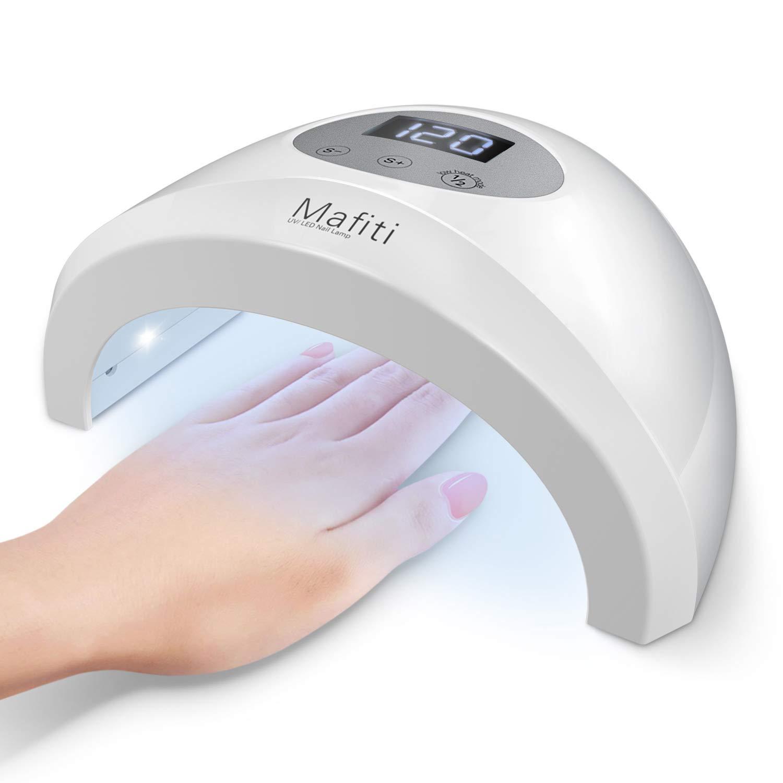 Mafiti E-31 UV/LED Lampe à ongles 48w pour vernis à ongle et manucurer les Gels à la maison, avec minuterie et l'écran LCD, avec Capteur intelligent