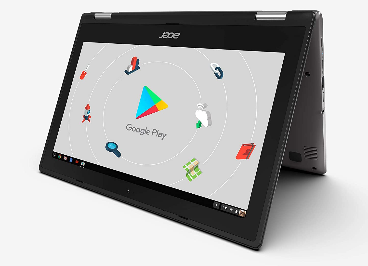 Newest Acer 2-in-1 Ultra Slim Chromebook, 11.6inch IPS Multi-Touch Screen, Intel Celeron Processor Up to 2.4 GHz, 4GB LPDDR4 Memory, 32GB eMMC, WiFi, Bluetooth, Chrome OS (Chrome OS, Silver)(Renewed)