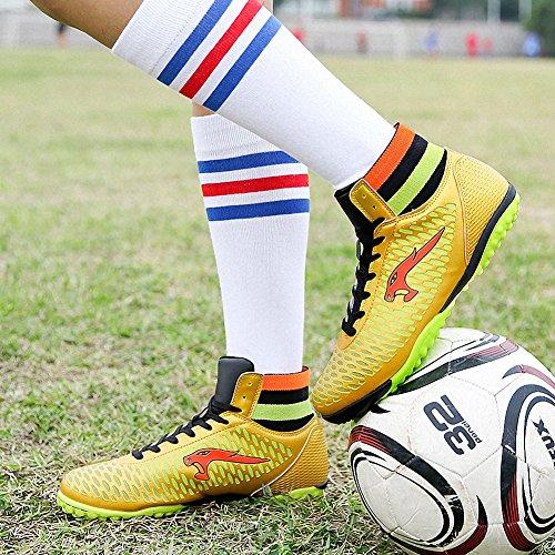 Ben Sports Unisex-Kinder Hallenschuhe TF indoor Trainingsschuhe Fußballschuhe der Herren,33-46 Gold