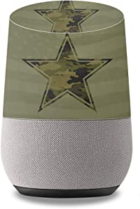 MightySkins Protective Vinyl Skin Decal for Google Home wrap Cover Sticker Skins Army Star