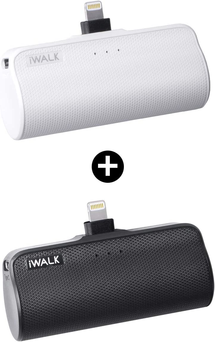 iWALK Mini Portable Charger for iPhone with Built in Cable, 3350mAh...