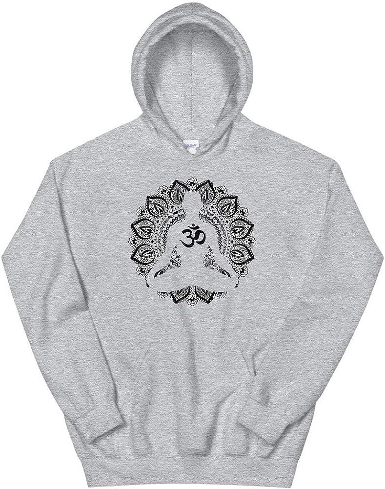 Super Comfy /& Soft Buddhist Vibes Meditating Buddhist Om Mandala Unisex Hoodie