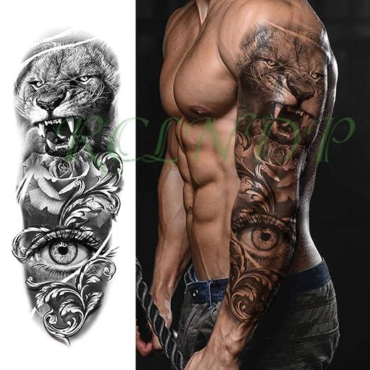 tzxdbh 5Pcs-Etiqueta engomada del Tatuaje a Prueba de Agua Búho ...