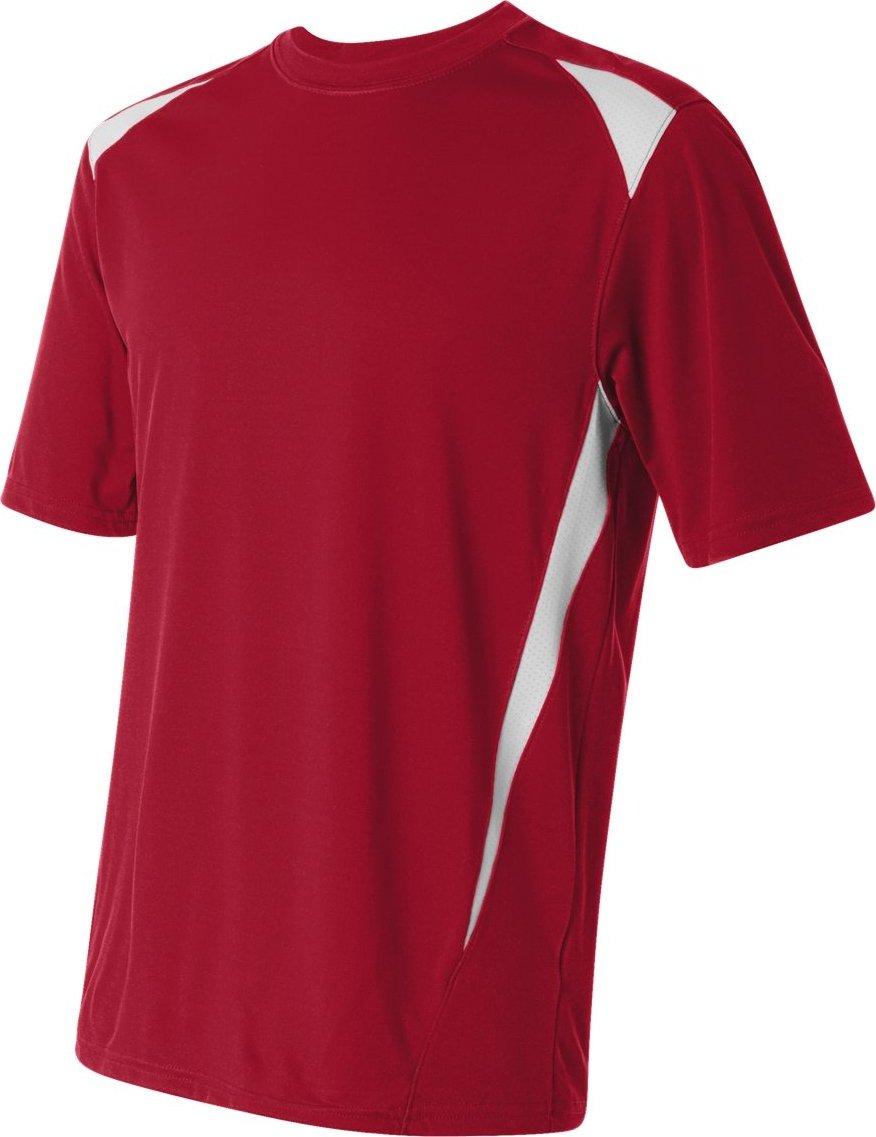 Augusta Sportswearメンズプレミアクルー B007P88CVO XXX-Large|レッド/ホワイト レッド/ホワイト XXX-Large
