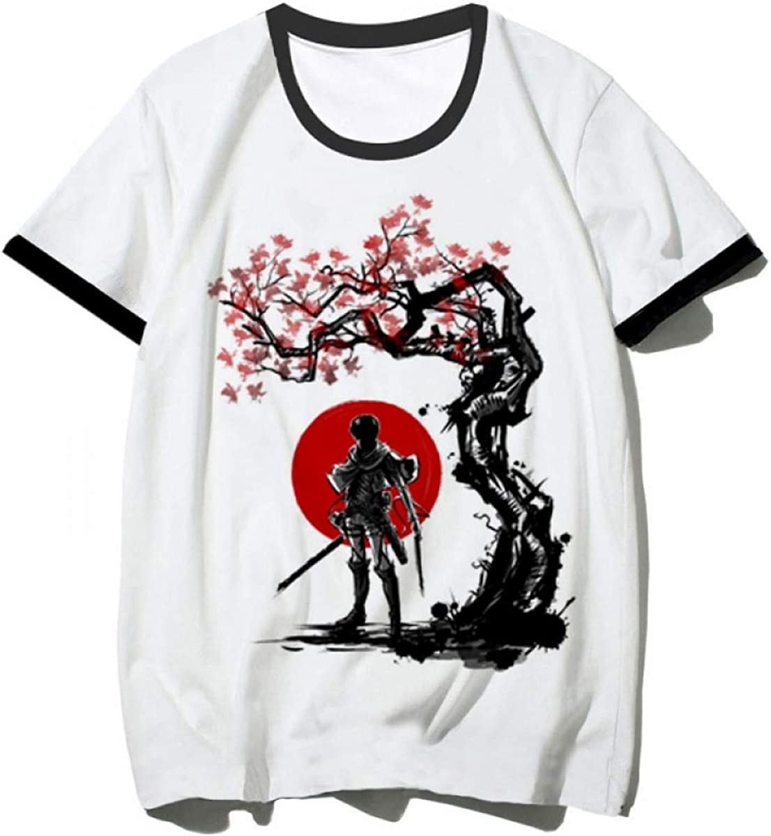 FLAMENCO_STORE Attack on Titan T Shirt Men Shingeki No Kyojin T-Shirt Funny Printed Tshirt: Amazon.es: Ropa y accesorios