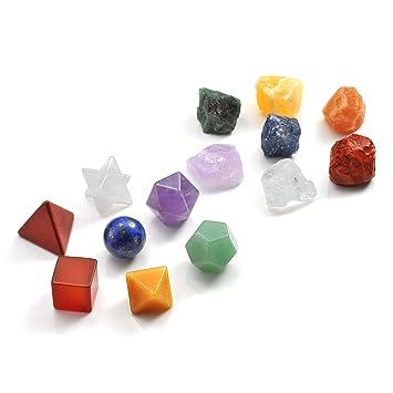 Amazon.com: CrystalTears 7 cristales de chakra piedras de ...