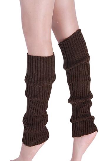 Sevozimda Womens Winter Warm Knitted Crochet Largo Calcetines Calentador De La Pierna Brown One Size: Amazon.es: Ropa y accesorios