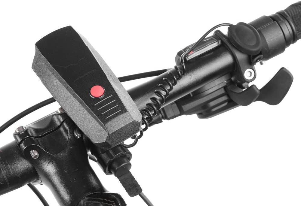Fishlor Avvisatori acustici da Ciclismo Avvisatore Acustico per Mountain Bike Elettrico Avvisatore Acustico per Bicicletta Anello per Manubrio Campana con Luce Nera