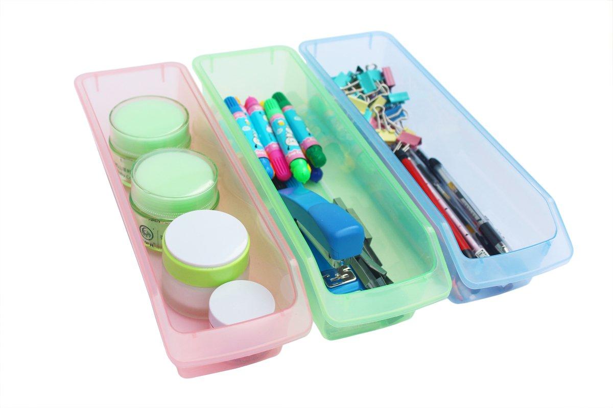 Honla Small Plastic Drawer Organizer Trays/Bins-Set of 3-Clear ...