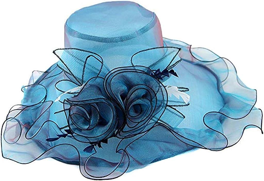 Vcenty Fashion Casual Classic Summer Womens Elegant Organza Church Derby Cap Kentucky Tea Party Wedding Hat