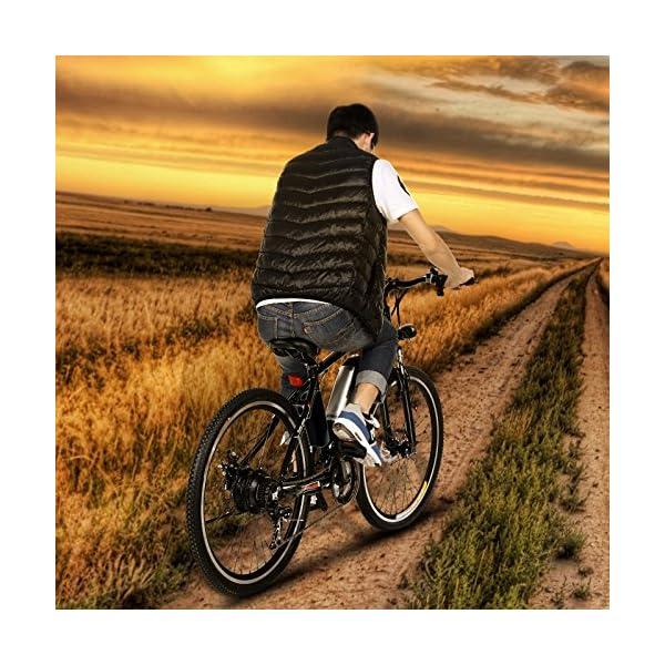 ANCHEER Bicicletta Elettrica Pieghevole Bici da Montagna Ebike con Batteria al Litio da 26 Pollici Grande capacità 36V… 6 spesavip