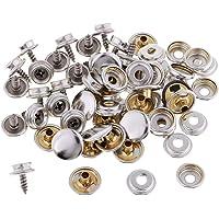 20 Piezas Botones a Presión de Metal Corchete