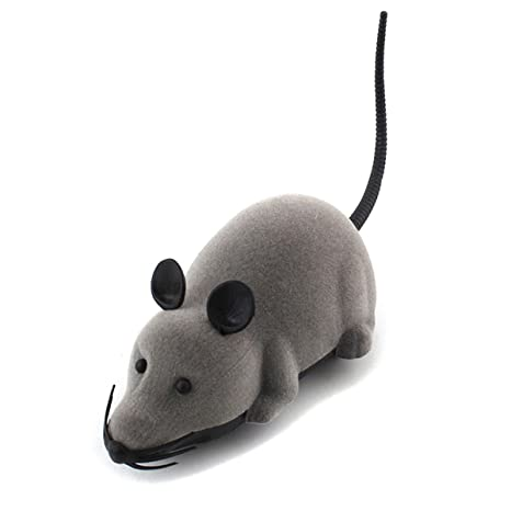 TOOGOO Raton Rata electronico RC control remoto inalambrico Ratones para gato perro mascota Juguete divertido